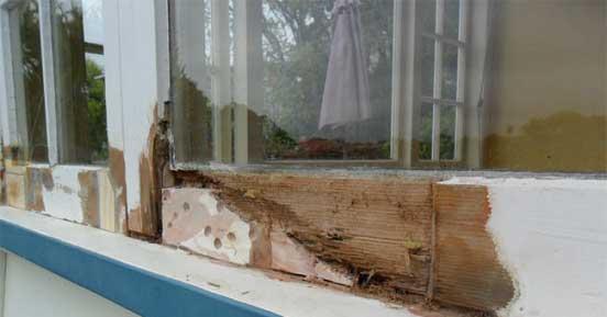 Rotting Timber Bifold